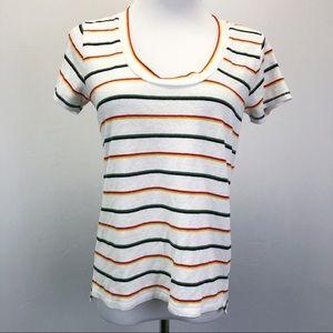 Madewell City Tee Shirt Walcott Stripe Linen Blend